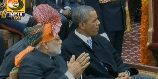 Sticky issues Why was President Obama chewing gum at R-Day parade