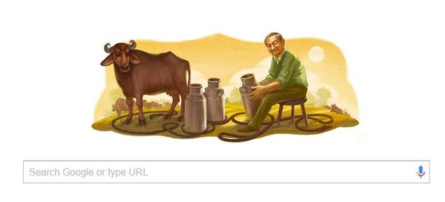 Google Amul pay tribute to Varghese Kurien on his 94th birthday