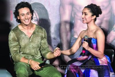 Tiger Shroff Shraddha Kapoor reveal their fun side at the trailer launch of Baaghi in Mumbai