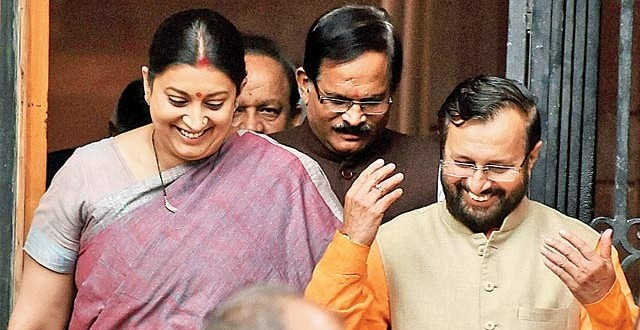 Major changes to PM Modi's Cabinet Smriti Irani loses HRD to Javadekar, but could be BJP's face in UP polls