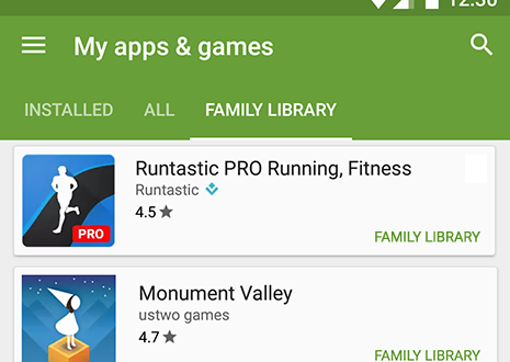 Google Play Family Library for apps, movies, and TV launches today