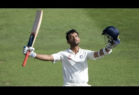 Rain interferes after Rahane ton pushes India's lead past 300