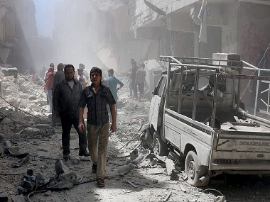 Russia under fire at United Nations as air strikes pound Syria's Aleppo