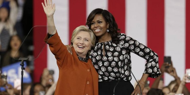 Hillary Clinton, Michelle Obama make first joint campaign appearance in bid for women's support