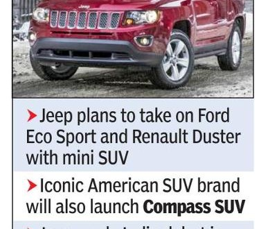 Jeep plans mini SUV for under Rs 10L