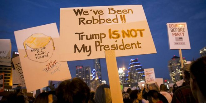 Trump offers scattershot response to global protests