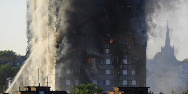 Massive fire at 27-storey tower in London, screams for help heard from trapped residents on top floors