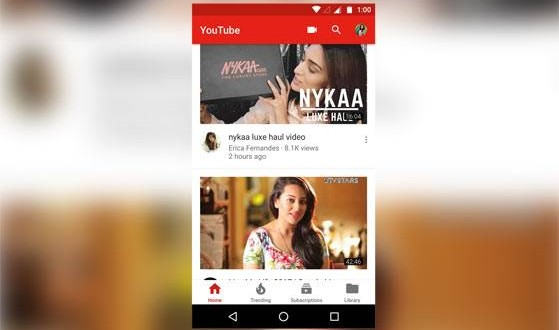 YouTube Android app gets new UI, adds bottom navigation bar
