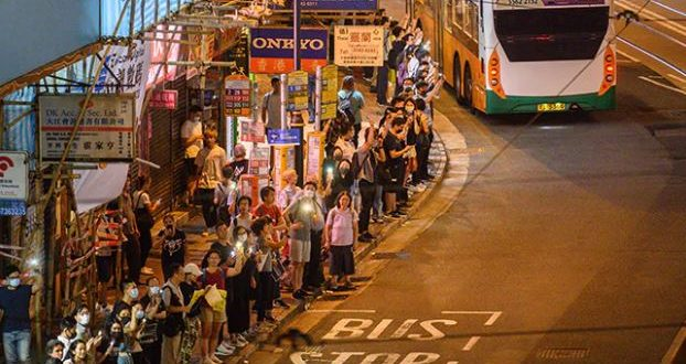 """Hong Kong Protesters Form Human Chain 30 Years After """"Baltic Way"""""""