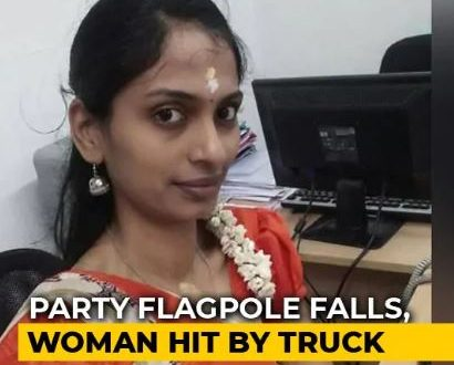 Tamil Nadu Woman, 30, Hit By Truck While Trying To Avoid AIADMK Flagpole